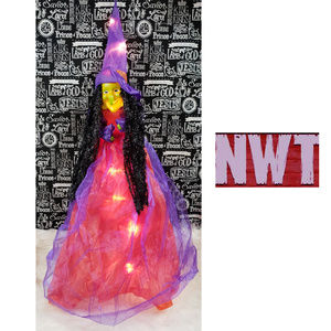 Other - Halloween Light Up Hanging Witch NWT